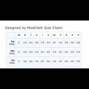 ModCloth Size Chart!